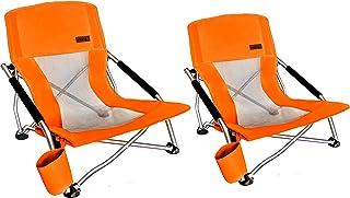 Nice C 低海滩野营折叠椅,超轻型背包椅带杯架和手提包紧凑耐用户外露营、烧烤、海滩、旅游、野餐、节日等场合