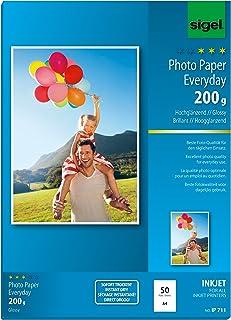 Sigel 照片纸 每天 A4 50 Blatt|200g/m²