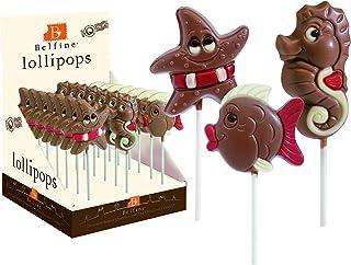 Belfine 海星/海豚和海马 巧克力棒棒糖 多种设计30克 (7件装)