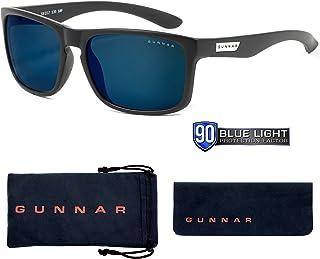 Gunnar Intercept Onyx 戶外高級游戲眼鏡,帶可調節硅膠鼻托(電子游戲)