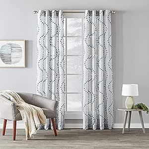 SKL Home Saturday Knight Ltd. 创作,Billow Window Panel ,牛仔蓝,52 英寸 x 63 英寸 牛仔蓝 52 inches x 63 inches U7115300063P09