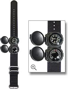 Sun Company ArmArmour 3 – 屏蔽手腕指南针和温度计组合,带坚固的战术祖鲁带