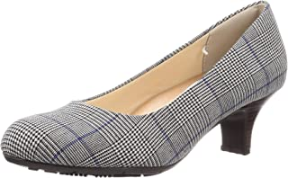 Lady woker 浅口鞋 亚瑟士商务 相当于3E 5.5厘米鞋跟 圆头 轻便女鞋 LO-16030 女士