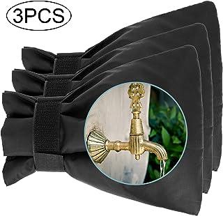 LUTER 3件套户外水龙头盖冬季软管隔热盖管保温包围冬季水龙头保护器防冻(黑色)