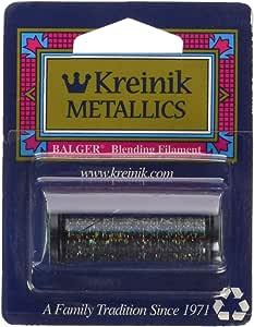 Kreinik Blending Filament 50m Metallic Thread for Sewing, 55-Yard, Blinding Black