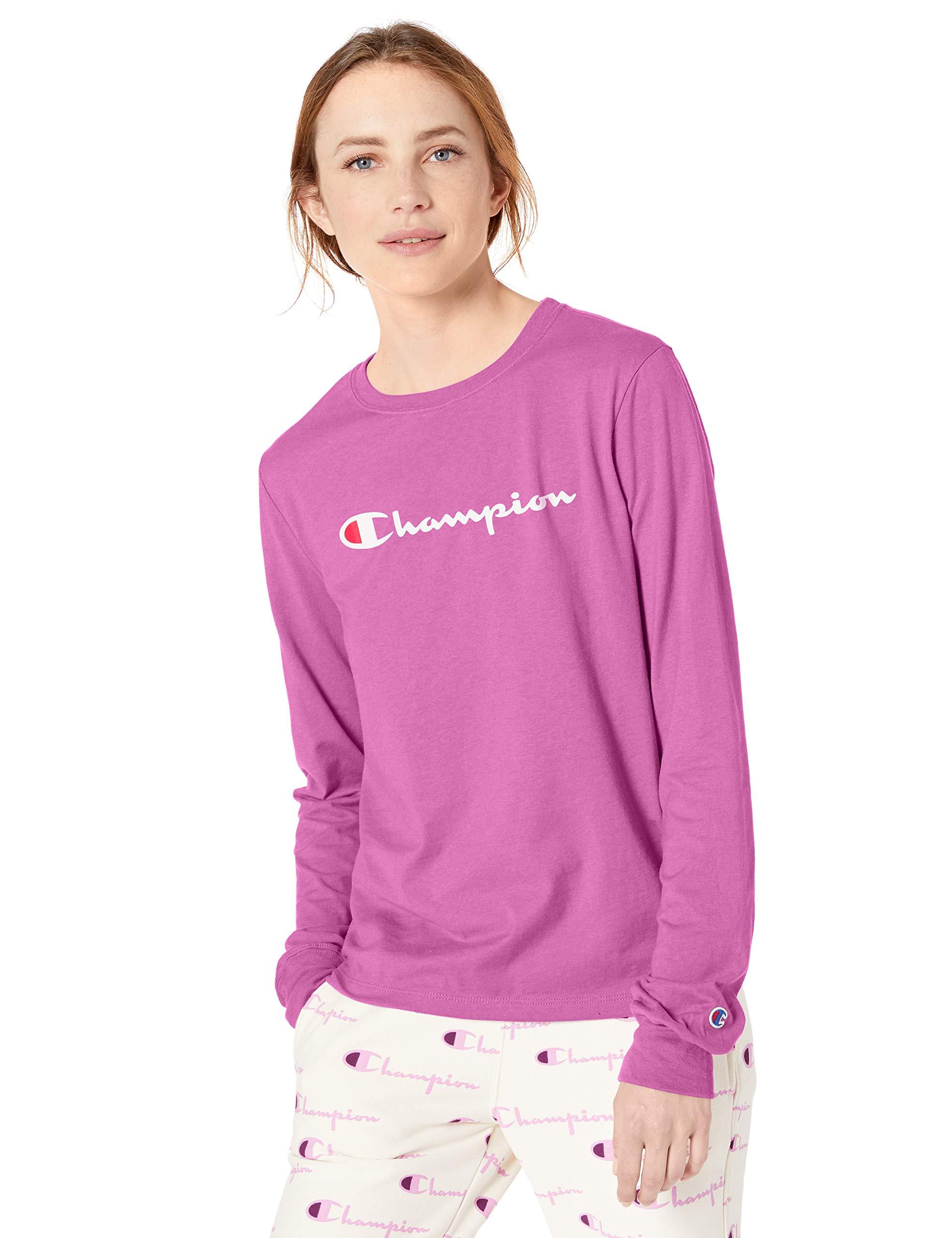 チャンピオンの女性の古典的な長袖Tシャツ