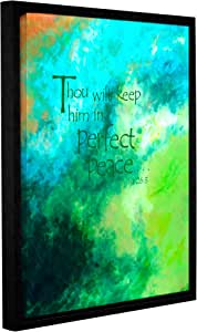 """ArtWall Herb Dickinson's Perfect Peace Gallery Wrapped Floater Framed Canvas, 24 x 32"""""""