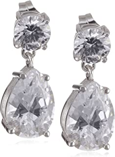 Myia Passiello Myia Passiello 必备银色珍珠饰面方晶锆石 8.272 克拉耳环