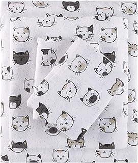 智能设计床单套装 Grey/Pink Cats Queen