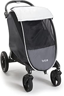 Brica Shield UPF+ 50 天气和昆虫婴儿车罩,灰色