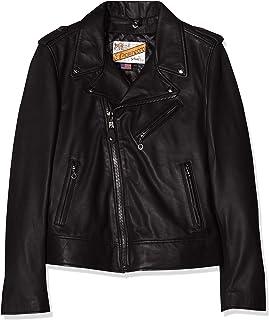 SCHOTT NYC 女式 LCW 1601d 皮革长袖外套
