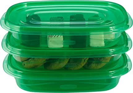 Rubbermaid TakeAlongs Food Storage Container Set, Spearmint Green, 4-cup Value Pack of 6 (1890474)