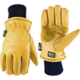 Leather Winter Work Gloves, Water Resistant, Very Warm 100-gram Thinsulate, Medium (Wells Lamont 1202M)