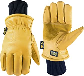 Leather Winter Work Gloves, Water Resistant, Very Warm 100-gram Thinsulate, X-Large (Wells Lamont 1202XL)