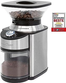 ProfiCook PC-EKM 1205 电动咖啡研磨机,16级,可调节研磨度(粗至特别细),适用于过滤器或筛网架,手过滤器,土耳其咖啡,不锈钢