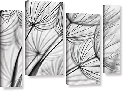 """ArtWall Cora Niele's Parachute Seed II 4 Piece Gallery Wrapped Canvas Staggered Set, 36 by 54"""""""