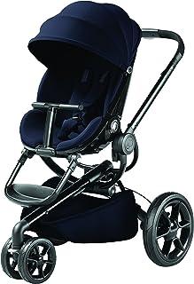 Quinny 酷尼 Moodd 高景观婴儿推车,双向可坐可躺,轻便可折叠带自动展开功能,适合0-4岁,伯爵蓝/黑框