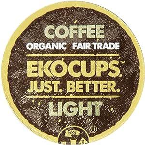 EkoCups Artisan轻度烘培咖啡,可回收单杯 适用于Keurig K杯咖啡机,80个计数