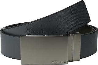 Calvin Klein 男士平滑压纹双面皮带