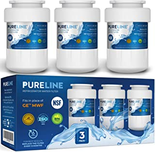 GE MWF Refrigerator Water Filter Smartwater Compatible Cartridge, 1, 2 or 3 Pack - By Pure Line