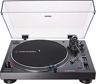 Audio-Technica AT-LP120XUSB Direct-Drive Turntable (Analog & USB), Black, Hi-Fidelity, Plays 33 -1/3, 45, and 78 RPM Records, Convert Vinyl to Digital, Anti-Skate Control, Variable Pitch Control 需配变压器