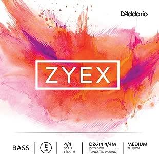 D'Addario 达达里奥 Zyex 中等张力 4/4 低音提琴 E 弦(DZ614 4/4M)