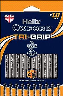 Helix Oxford Tri Grip 笔,黑色(10 支装)