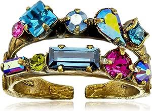 Sorrelli 意大利品牌 Super Multi 多彩系列 精美的多切面双层 女士戒指