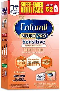 Enfamil 美赞臣 NeuroPro Sensitive 1段 0-12个月 婴儿易吸收配方奶粉 833g/盒 单盒装 适合乳糖不耐
