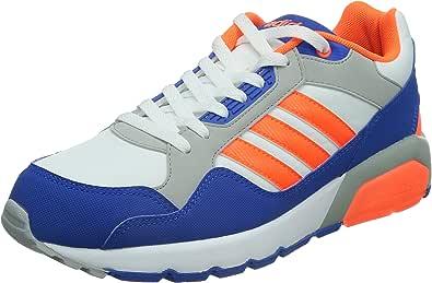 adidas NEO 阿迪达斯运动生活 RUNNING 男 休闲跑步鞋RUN9TIS F97919 FTWR 白/警报红荧光/蓝 41 (UK 7.5)