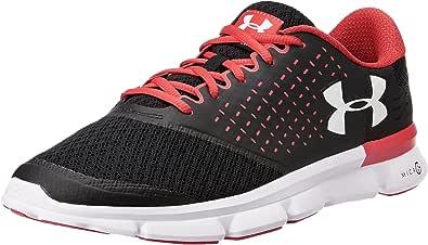 UnderArmour 男 UAMICROGSPEEDSWIFT2跑步鞋1285683-003黑色/石榴色/白色 40 (US7)(亚马逊进口直采,美国品牌)