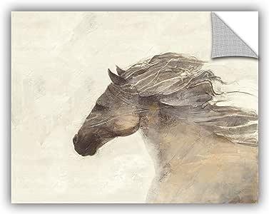 "ArtWall ""Albena Hristova's Into The Wind Ivory"" Removable Wall Art Mural, 18"" x 24"""