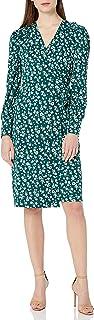 亚马逊品牌 - Lark & Ro 女士罩衫细节长袖裹身裙
