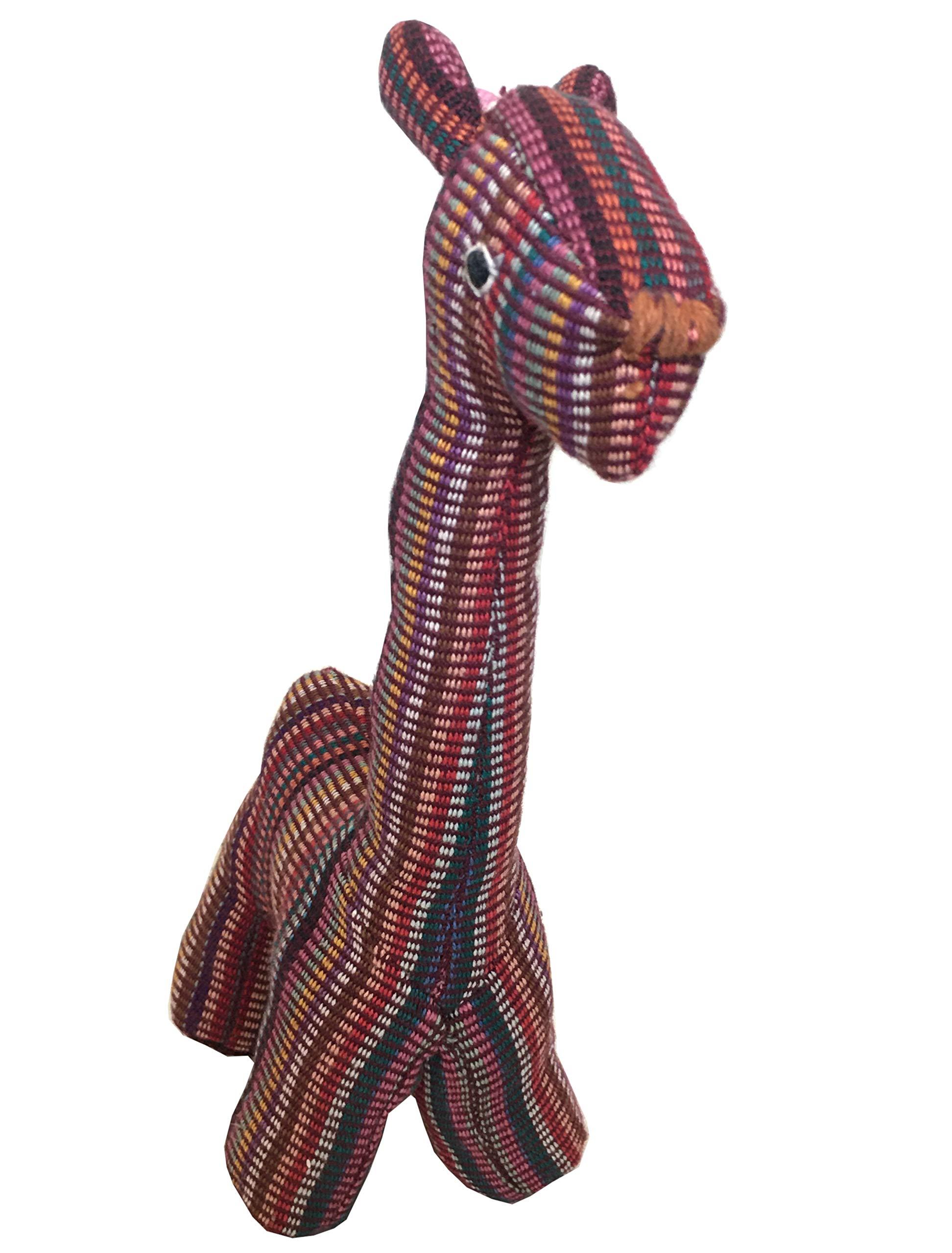 Snow Hill 手工棉羊毛织机玩具,适合狗狗、儿童和小猫,趣味可爱多彩柔软棉和 Allo 羊毛长颈鹿玩偶玩具,独特的 * 纯手工制作天然,适合爱狗人士-(只有一个玩具) 1 Jiraffe 中