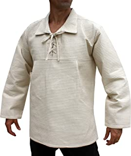 Svenine 宽欧式口袋领长袖棉质 Renaissance 衬衫