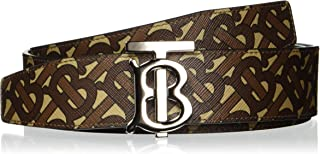 Burberry 博柏利 皮带 8024192 交织字母图案 双面帆布 皮革 真皮