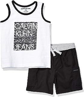 Calvin Klein 男宝宝背心短裤两件套