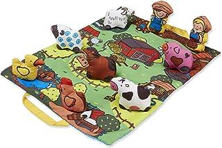 Melissa & Doug 农场主题婴幼儿随身游戏垫,19.25 x 14.5英寸(约48.9cm x36.8cm),含9只动物,折叠式设计方便储存和携带