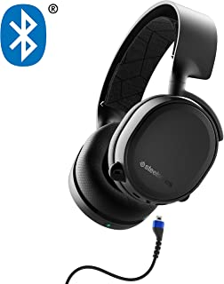 SteelSeries 赛睿 Arctis 3 蓝牙(2019版)有线游戏耳机+蓝牙 - 适用于Nintendo Switch,PC,PlayStation 4,Xbox One,VR,Android和iOS - 黑色