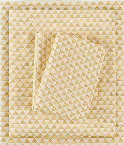 智能设计三角超细纤维印花床单 黄色 全部 ID20-1176