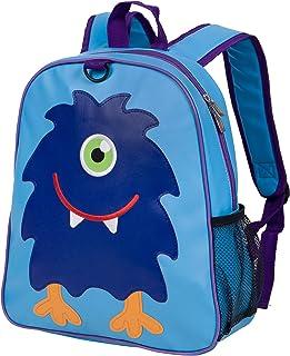 Wildkin 刺绣背包,适合幼儿男孩和女孩,非常适合日托、学前和幼儿园,儿童背包尺寸为 33.5 x 32.25 x 5 英寸(约 34.9 x 32.9 x 12.25 厘米),不含双酚 A,橄榄色儿童(怪物)