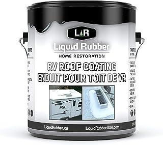 液体橡胶 RV 屋顶太阳能反光密封剂 Brilliant White 1 加仑 14101
