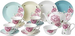 Royal Albert Miranda Kerry Everyday 40034018 15 件套茶杯茶碟,茶壶,糖和奶油,多种,瓷器,15 件