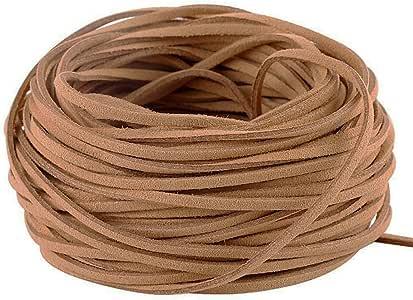 GoFriend 25 码麂皮绳蕾丝人造皮革绳珠宝制作串珠工艺线 - 3mm 宽 棕色 N