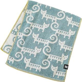 内野(UCHINO)Bungto & Lotte 缝线 面巾 蓝色 约34×80cm 5815F001 B