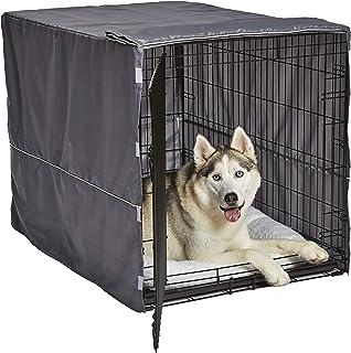 新世界灰色狗箱套 | 狗箱套适合新世界和 iCrate 狗窝 | 可机洗和干洗 浅灰色 Fits 42-Inch Dog Crate