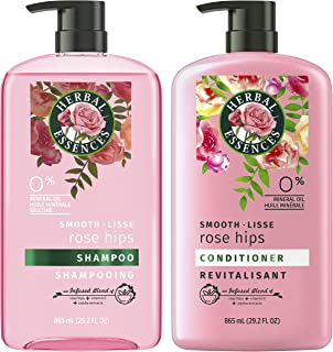 Herbal Essences 洗发水护发素 含维生素E,玫瑰果和荷荷巴提取物,Smooth系列 套装