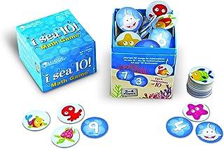 Learning Resources 数字游戏 海洋生物图案 I Sea 10 加减法 包括100张卡 年龄6岁以上