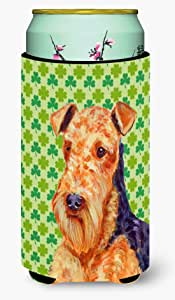 Airedale St. Patrick's Day Shamrock Portrait Michelob Ultra Koozies for slim cans LH9201MUK 多色 Tall Boy