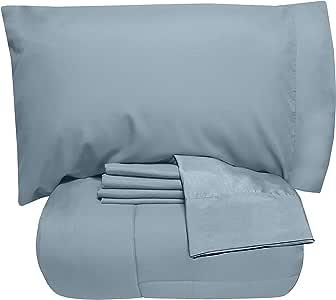 Sweet Home 系列床上用品纯色舒适 雾蓝色 两个 XL 6PC-SHT-1PC-CMF-MSTBLU-TWNXL
